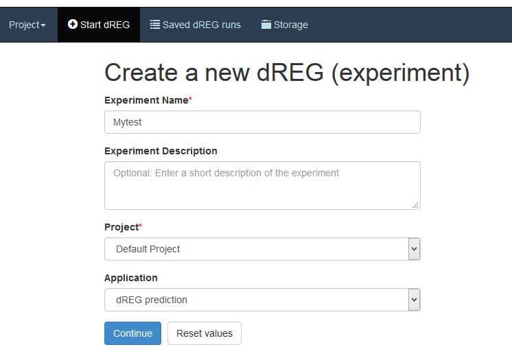 dREG experiment