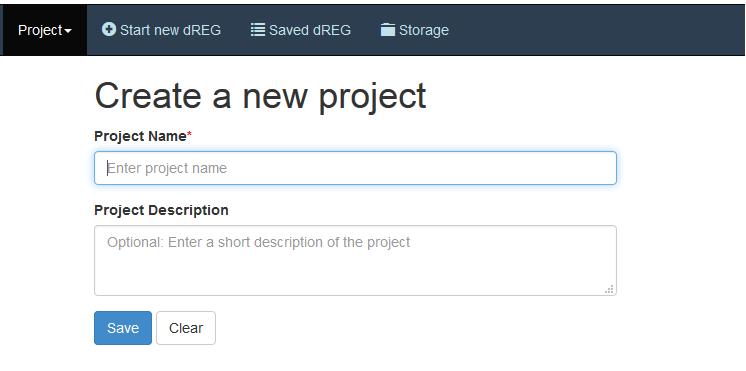 dREG project