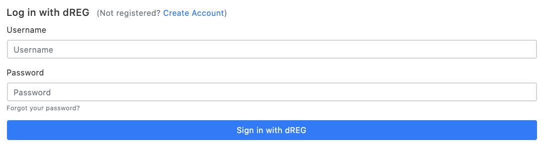 dREG login